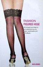 2014new fashion Sexy Womens Lace Top Silicone Band Stay Up Thigh High Stockings Pantyhose