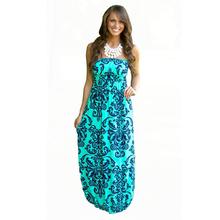 Buy 2016 Summer Women Long Beach Dress Bohemian Sleeveless Floral Printed Sexy Strapless Boho Maxi Dress Sexy Empire Dress Vestidos for $11.22 in AliExpress store