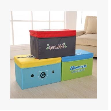 Creative Cartoon Animal Pattern Folding Storage Box Stool For Kids Dual Purpose Boxes Oxford Fabric Organizers Porta Caneta(China (Mainland))