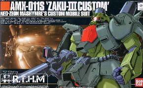 Bandai HGUC 03 AMX-011S Zaku III Custom Assembled model Gundam model kit Scale Model(China (Mainland))