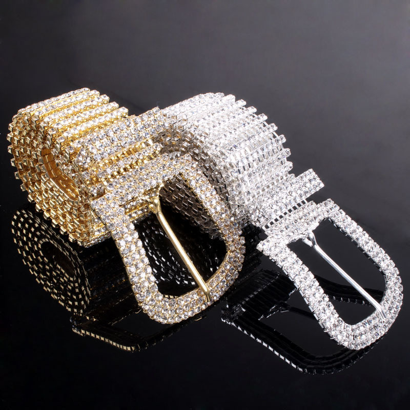 High Quality 2015 New Lunxry Belts Crystal Waist Chain Wedding For Women(China (Mainland))