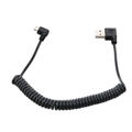 1 5m Spiral Coiled USB Micro 5 Pin Male to USB 2 0 Male Data Charge