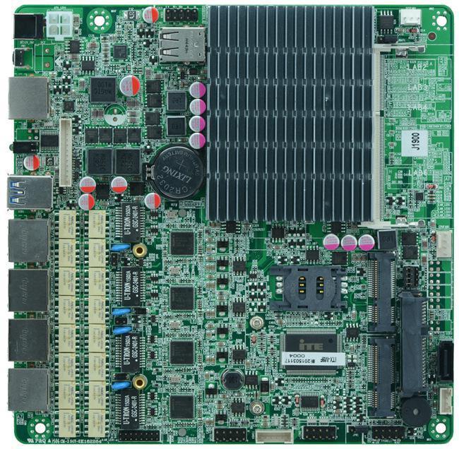Onboard Bay Trail Celeron J1900 firewall motherboard mini itx 4 Intel 82583V GbE lan Quad core CPU SSD 3G WIFI Bypass Fanless(China (Mainland))