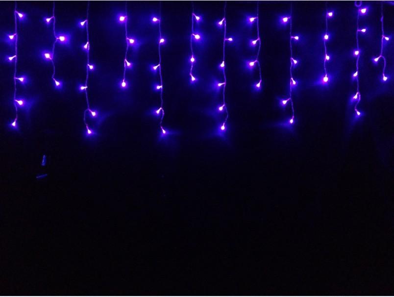 New 2013! 2pcs 220V Multicolour 100 LEDS 3M LED Curtain String Xmas Christmas Decoration Icicle Lights Free Shipping(China (Mainland))