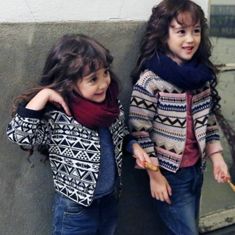 Korean style girls fall fashion fashion coat jacket striped short sleeved 2015 children 2-7 years old(China (Mainland))