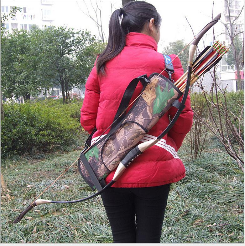 Outdoor Waterproof Bundled Quiver Camouflage Bionic Camo Bow Bag Pouch Arrow Quiver Archery Supplies Hunting Accessory