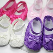 Baby Girl Boy First Walkers Floral Lace Prewalker Shoes Newborn Infant Toddler Girl Soft Sole Crib Schoenen  Scarpe Neonata(China (Mainland))