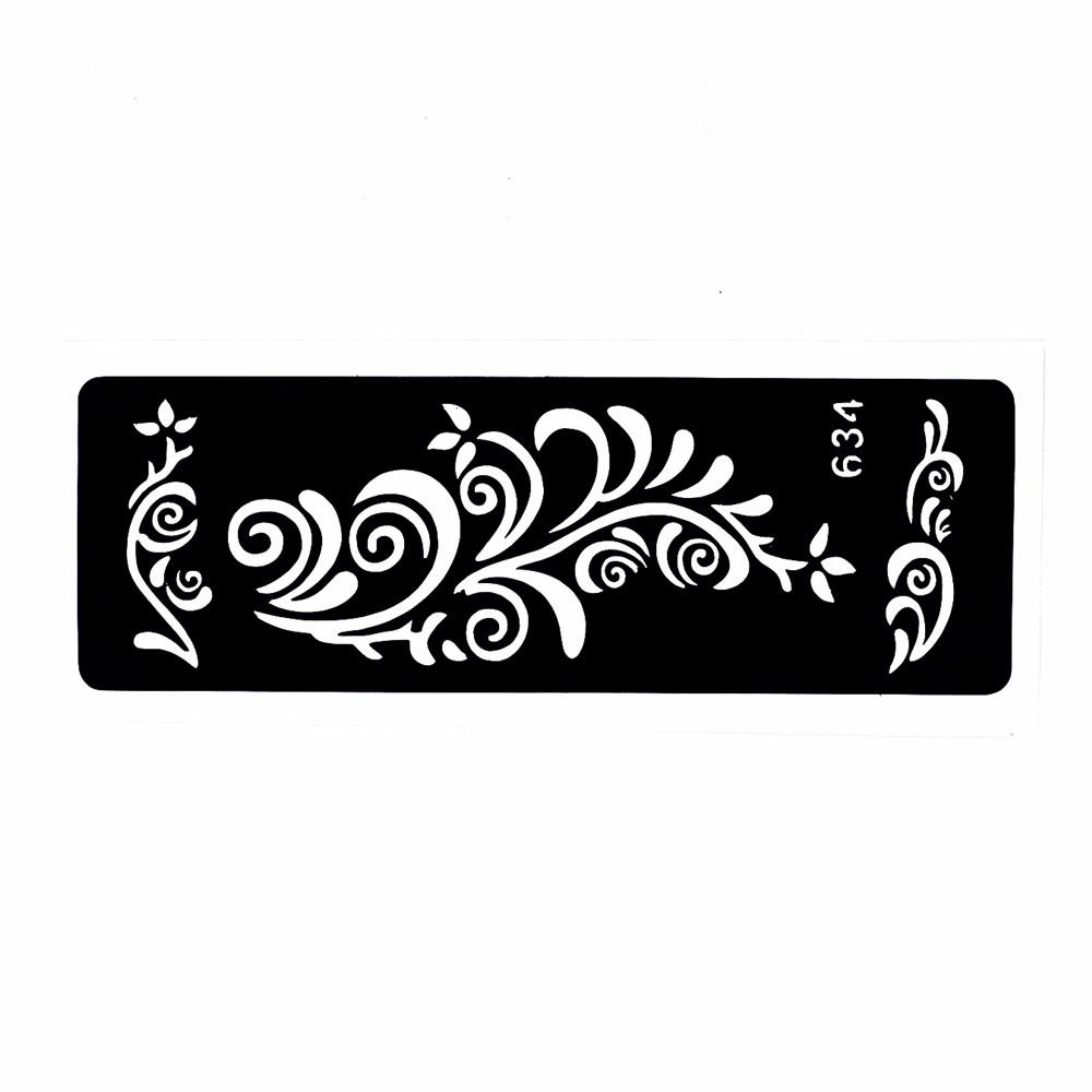 5 Pieces Small Henna Tattoo Stencil Leg Body Art Paint Tribal Totem Design Unisex Paste Drawing Mehndi Tattoo Template Number#01 (4)
