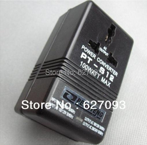 1pc new 220V 110V Travel Power Transformer Regulator Adapter 100W Voltage Converter Free Shipping(China (Mainland))