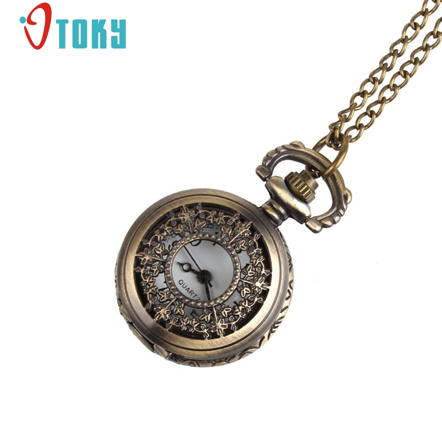OTOKY Retro Leaves Vintage Style Pocket Chain Necklace Watch for quartz women watch reloj mujer #40 Gift 1 pcs(China (Mainland))