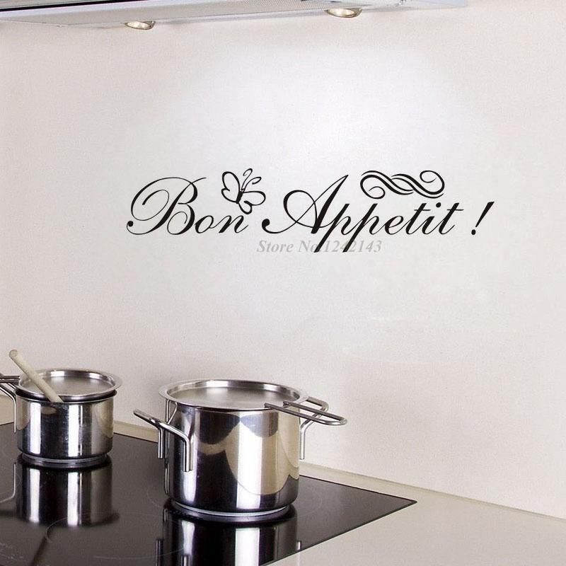 Muurstickers Keuken Bon Appetit : Aliexpress.com: Koop Bon Appetit Vinyl Keuken Belettering Muurstickers