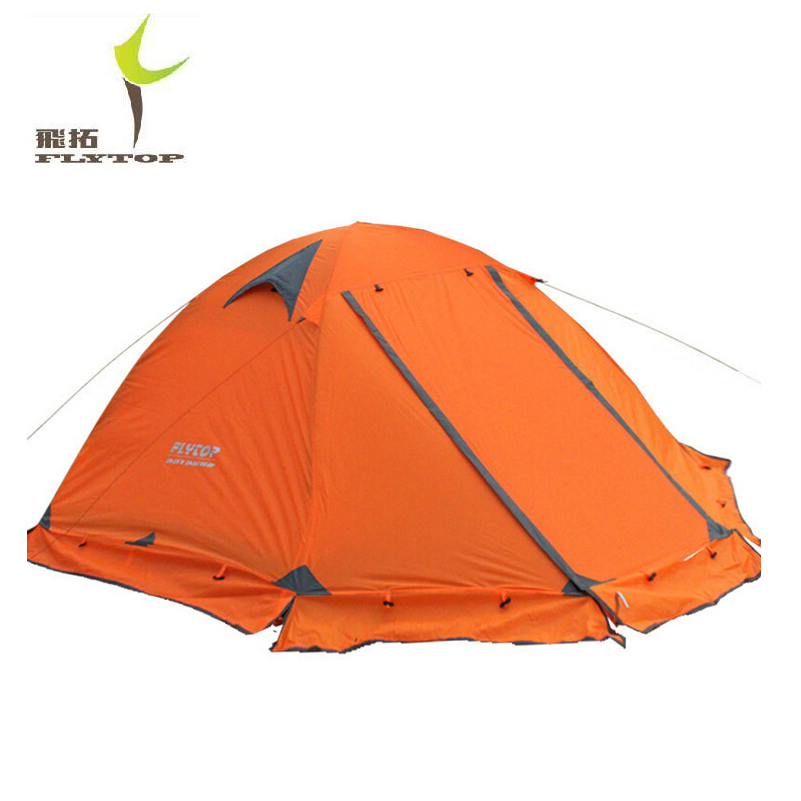 Фотография DHL free shipping FLYTOP Winter tent 2 persons Tourist double layer windproof waterproof professional camping tent tienda FT001