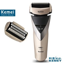 Kemei factory direct beauty body wash twin blade cutter head men face care Shaver razor electric rechargeable shaveing for man(China (Mainland))