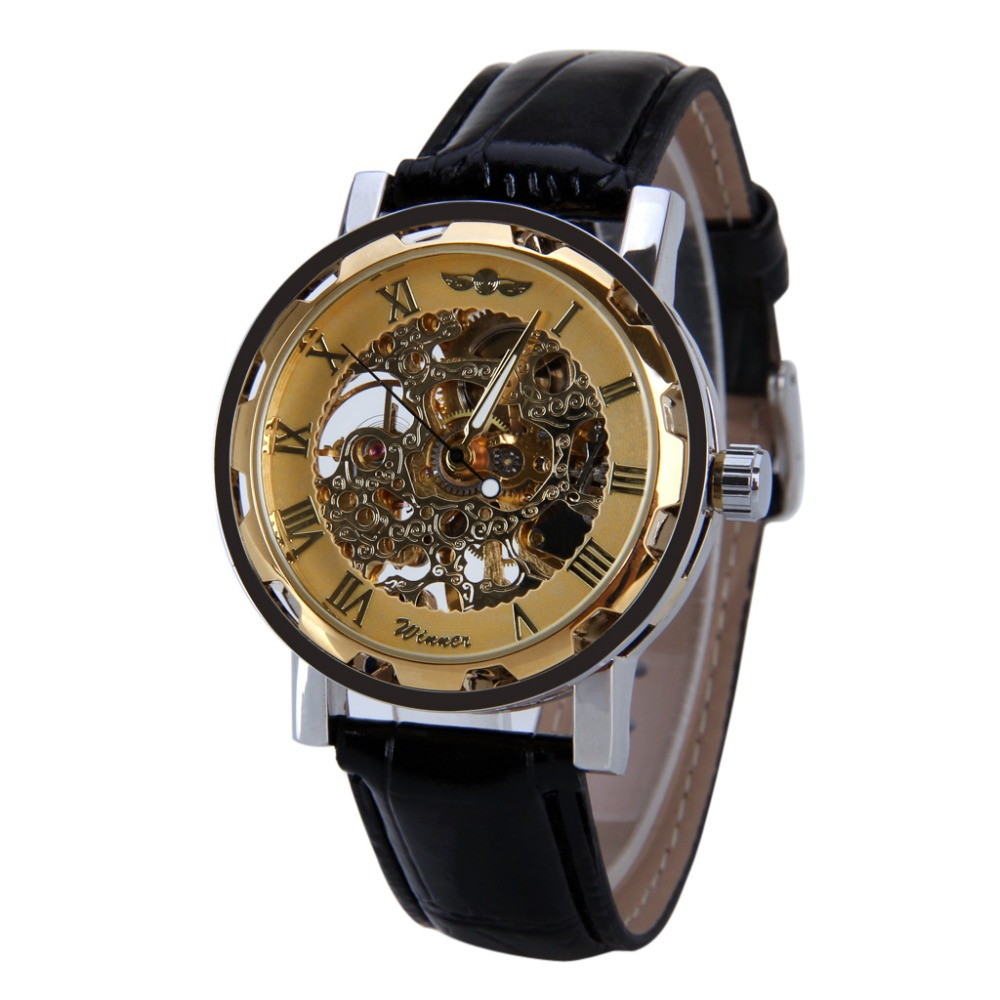 2016 New Luxury Brand Winner Fashion Casual Men's Mechanical Watch Skeleton Watches Casual Wristwatch relojes hombre(China (Mainland))