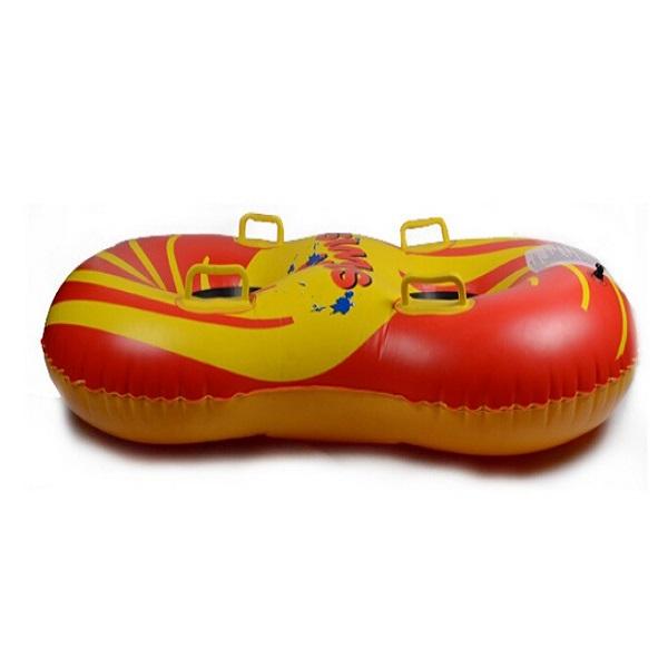 Hot selling Double size ski circle Inflatable Snow Tube Sledge Twist Snow Ring Sleds Skiing Tube Boat Shaped(China (Mainland))