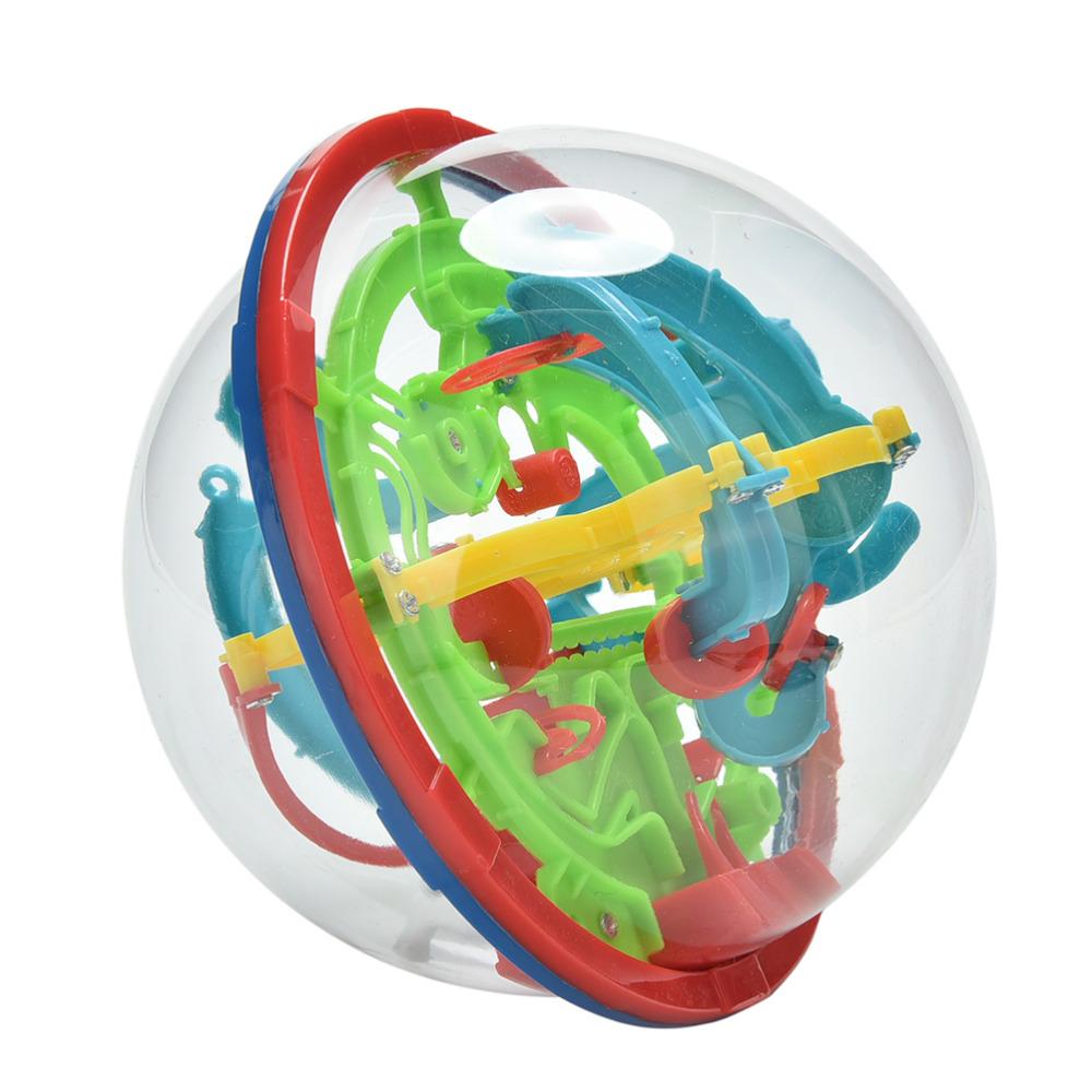 New Educational Training Tools 3D Magic Intellect Maze Ball Kids Children Balance Logic Ability Puzzle Game(China (Mainland))