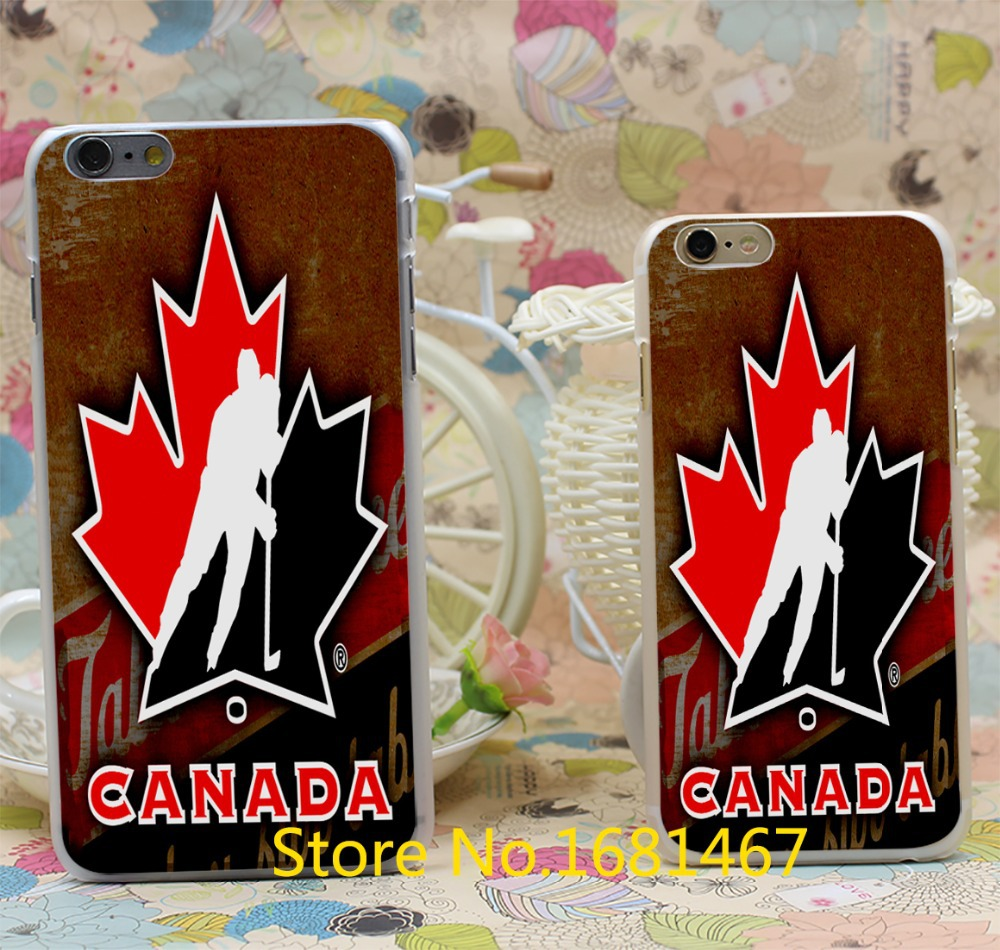 hockey canada Style For iPhone 6 6s 6g for iPhone 6+ 6 plus Transparent Hard Clear Cover(China (Mainland))