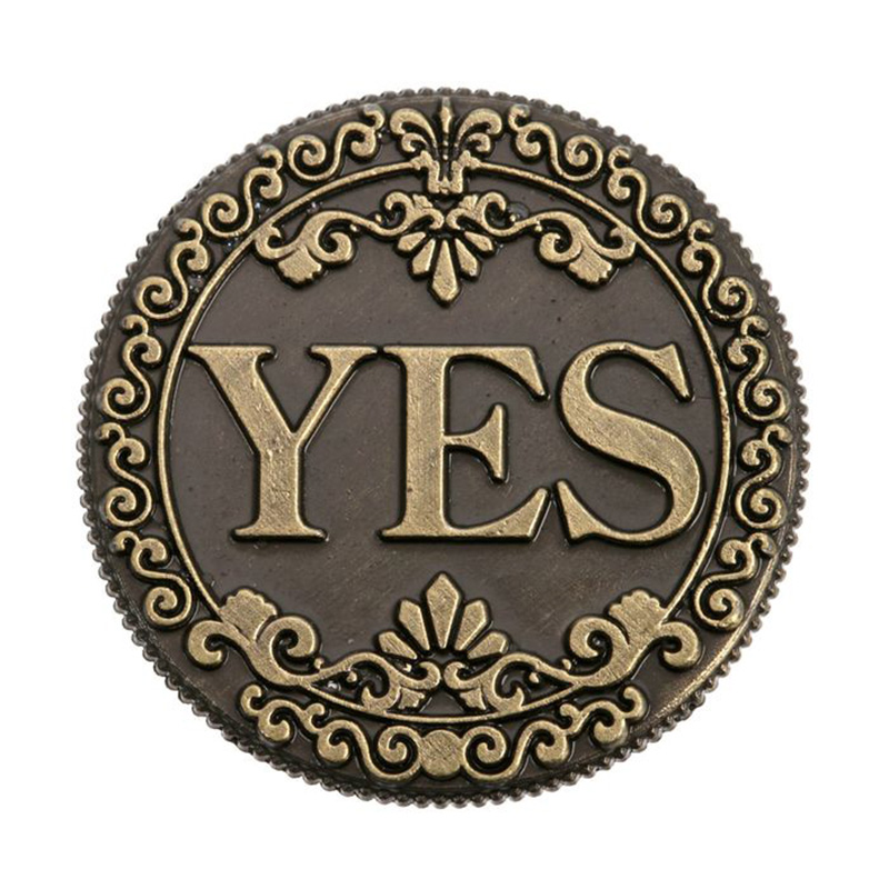 "2017 coin copy ""Yes- NO"" yes no coin with Retro pattern old coins New arrive Popular bronze Russian Coins(China (Mainland))"
