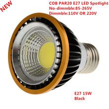 Buy 1PCS Newest 15W/9W COB dimmable PAR20 LED Spot Bulb Lamp Light E27 Warm White/Cool White/White Led Spotlight Downlight Lighting for $3.34 in AliExpress store