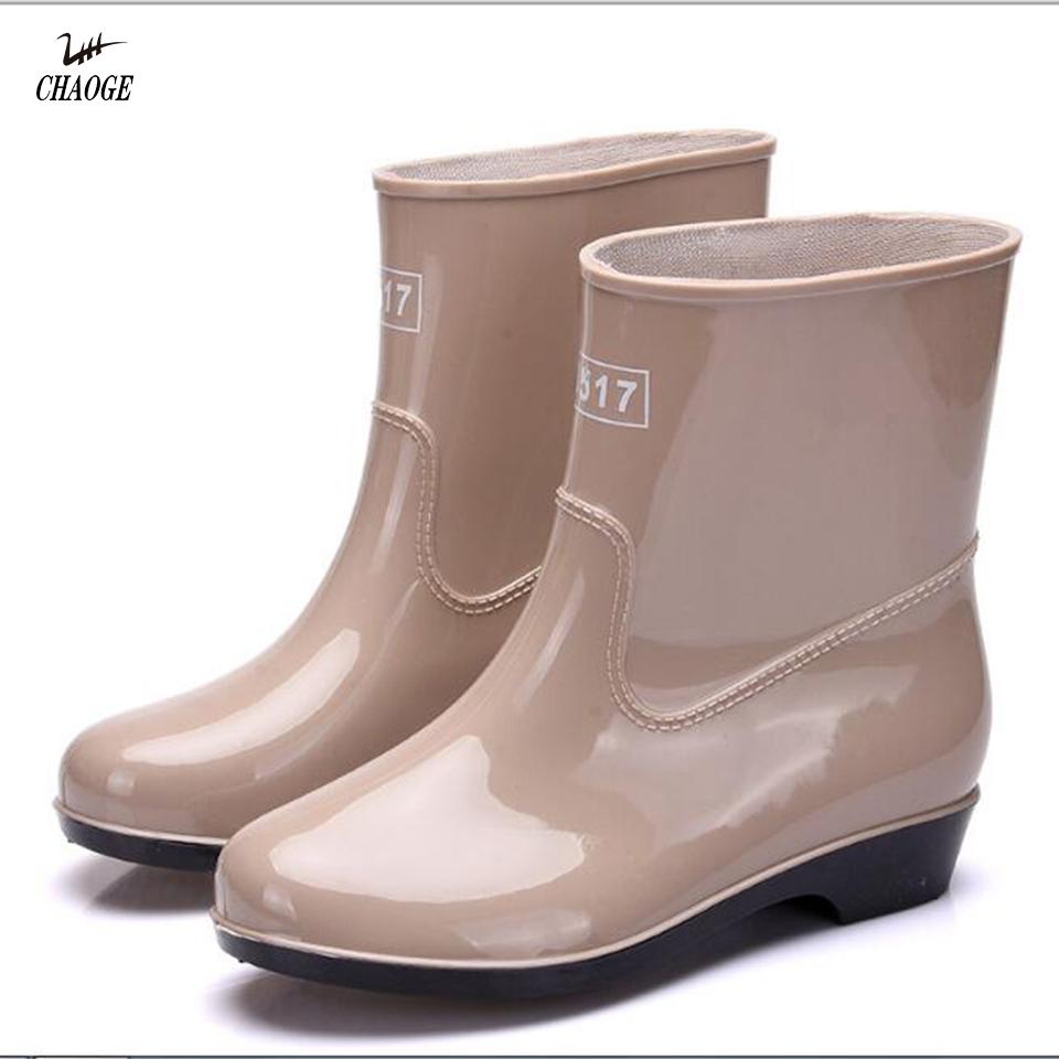 Global tropical rainforest warm rain barrel shoes young ladies fashion work shoes large size 36-41#37 hot sale(China (Mainland))
