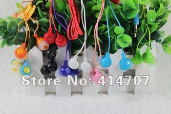 Free Shipping 10 pieces/lot Smile Headphone In-ear EHP Series for Kids Smiling Face Fruit Earphone for MP3 Players in Bag!