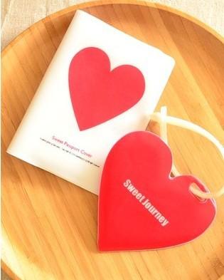 Red Heart pattern passport bags, travel passport holder,cover for passport(China (Mainland))