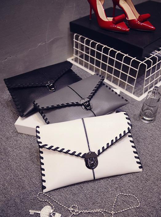 2015 new handbag tide Europe and retro envelope clutch shoulder diagonal weave bag lady Free Shipping(China (Mainland))