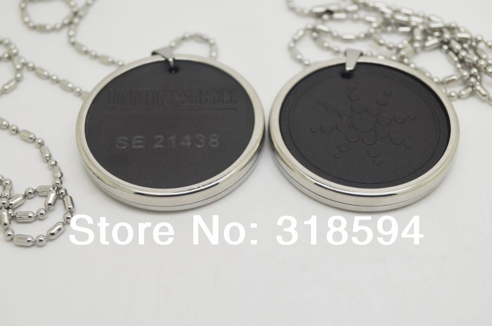free shipping sunflower stainless steel ringcover energy  Pendant with Stainless Steel chain lava quantum pendant