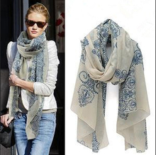 2015 Spring Style Fashion Vintage Girls Totem Print Scarves