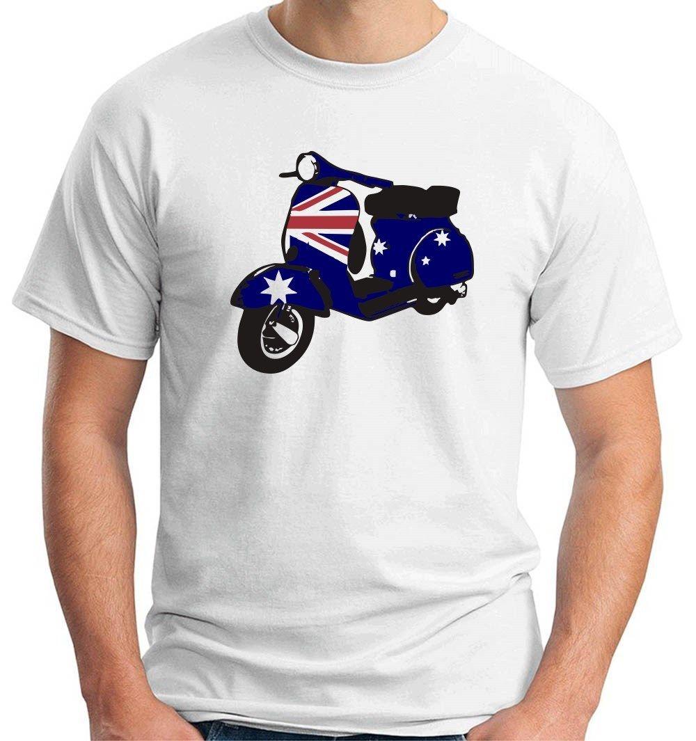 Design your own t shirt cheap australia - 2017 Fashion Men S Casual Wc0200 Vespa Bandiera Australiana Australia Design Tee Shirt Top Quality Short Sleeve