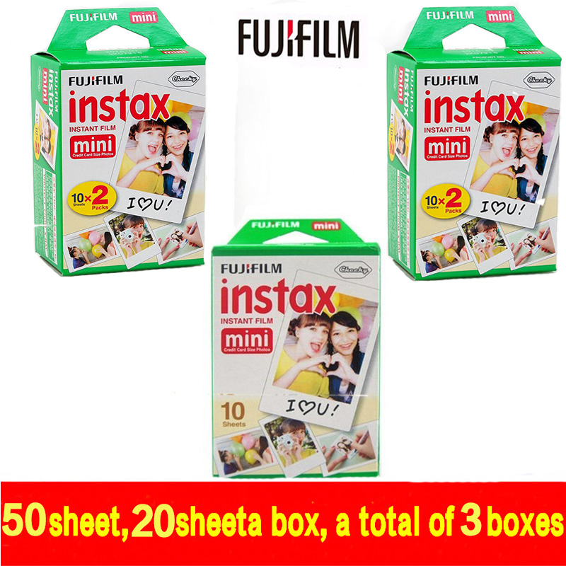 free shipping Genuine 50 Sheets White Fuji Instax Film Fujifilm Instax Mini 8 Film For 8 50s 7s 90 25 Share SP-1 Instant Cameras(China (Mainland))