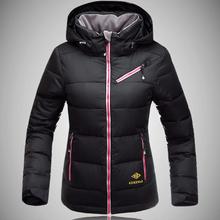 Новое лыжная куртка зима водонепроницаемый утка вниз спортивная сноуборд лыжи дамы пуховик девушку женский черный