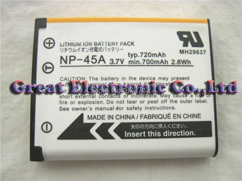 10pc,NP-45A NP-45 FNP45 Lithium Rechargeable digital camera battery pack for Fuji fujifilm J26 J35 JX405 JX250 Z91 J26 Z91 Z10(China (Mainland))