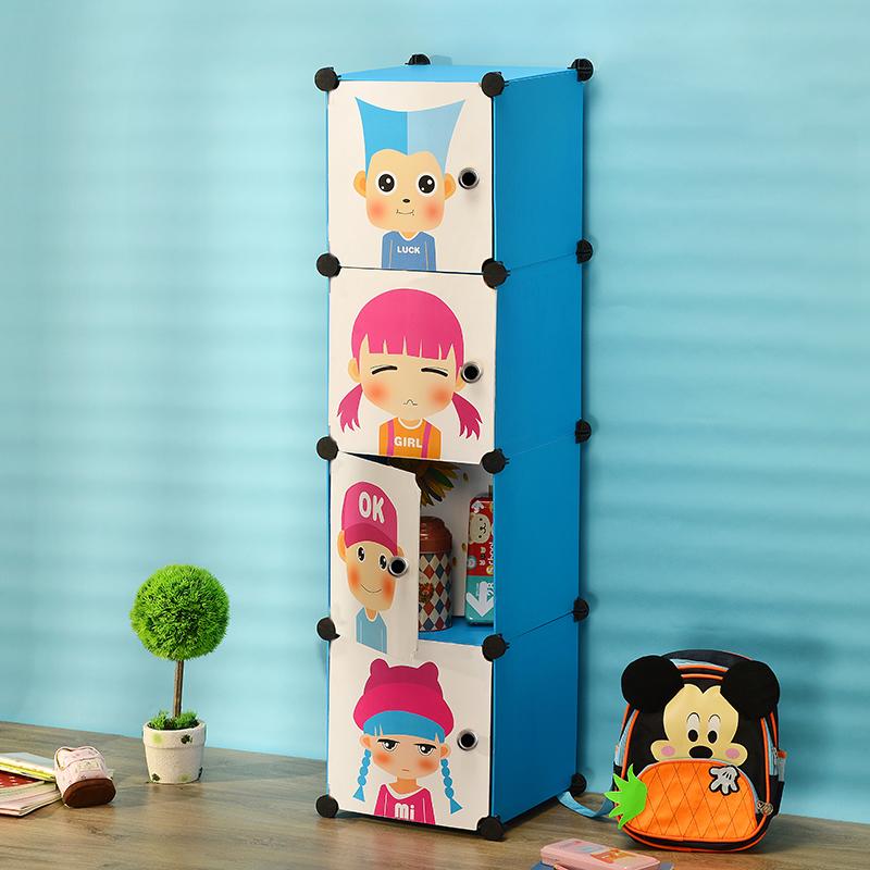 4 cubes DIY Box WARDROBE Collection box corner freestanding closet children storage box diy wardrobe closet plastic Silicone(China (Mainland))