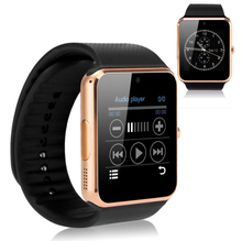 Smart Watch GT08 Samsung Android iphone Sync Connectivity Bluetooth Gold/sliver watch with Gift box