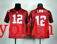 Nike Youth Nike Stanford Cardinal Andrew Luck 12 Red College Football Jersey(China (Mainland))