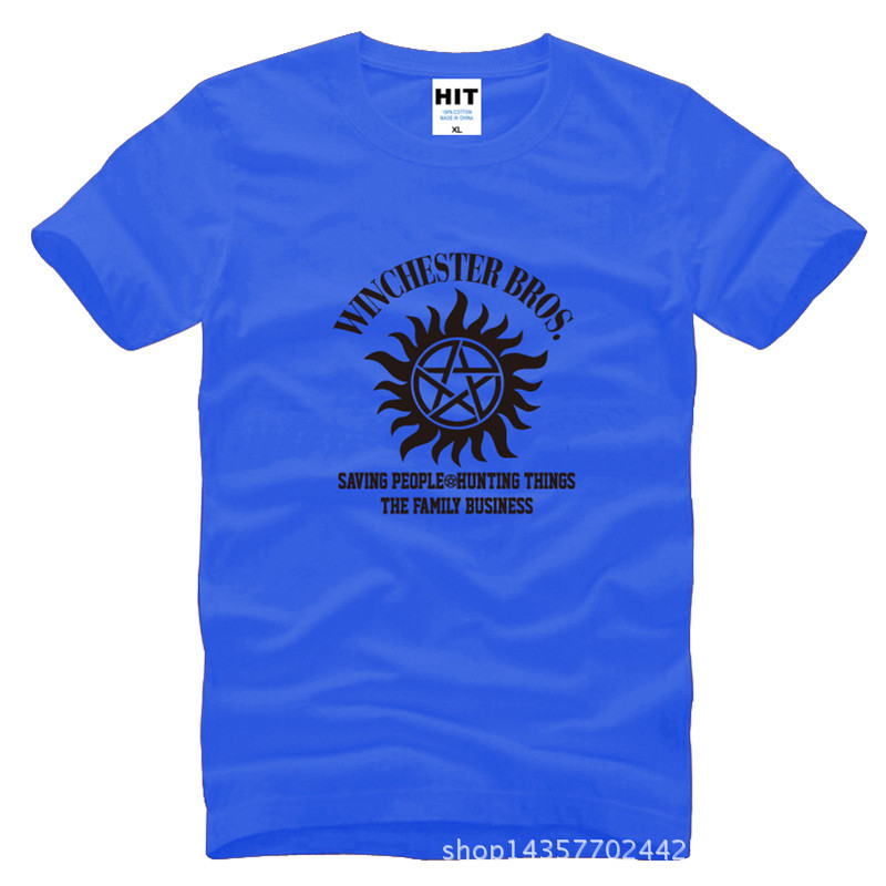 SUPER NATURAL WINCHESTER BROTHER SIX STAR GRAPHIC Tee Printed Mens