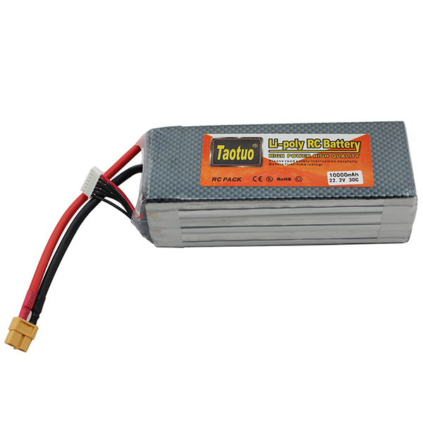 Taotuo  Lithium Li-polymer Lipo Battery 22.2V 10000mAh 6S 30C XT60 For Rc Helicopter Airplance Quadcopter Drone Bateria Lipo<br><br>Aliexpress