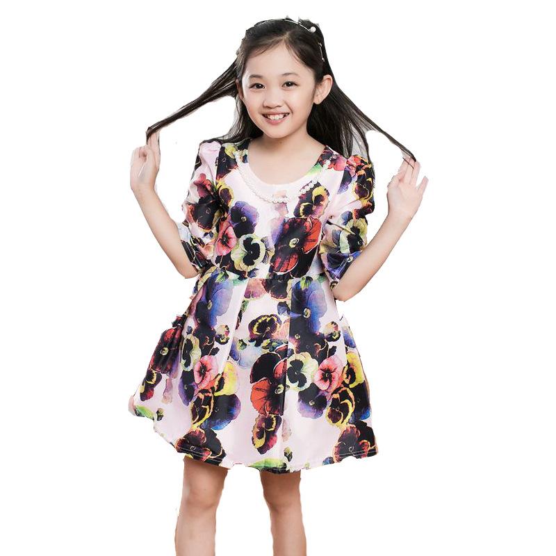 New Brand Kid princess dress Colorful bubble Girls Spring ...
