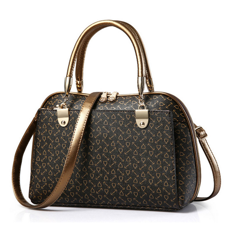 NEWS! All ten colors are available 2016 fashion print floral desinger bags women Shoulder bags OL Style women bag(China (Mainland))
