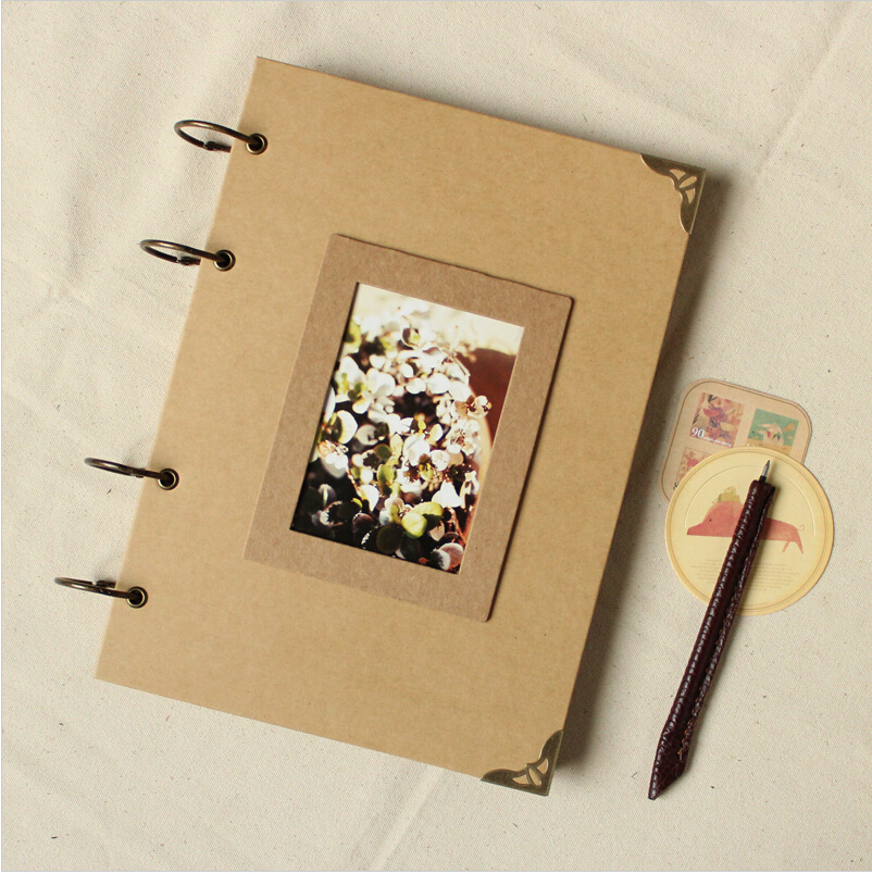 Handmade Scrapbook Cover : A blank diy photo album scrapbook paper crafts