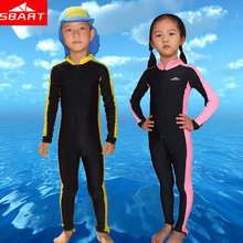 SBART Wetsuits Kids Upf50 Anti UV Sun Protection Lycra Wetsuit Kids Boy Girls Snorkeling Clothing Surf Diving Wet Suit One Piece(China (Mainland))