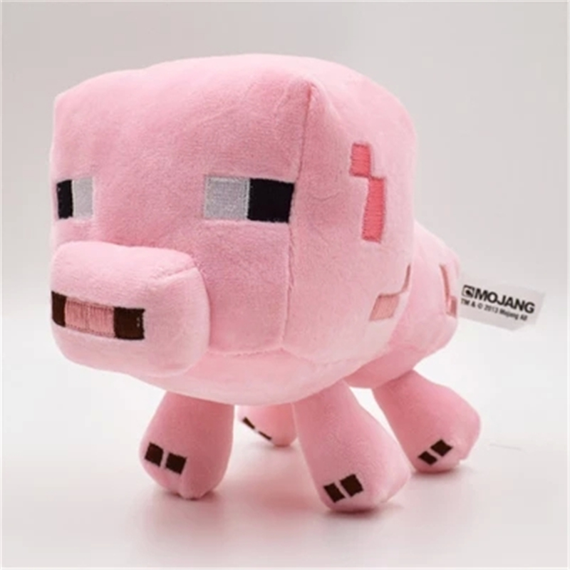 Minecraft Game Plush Toys 16cm Minecraft Pink Pig Genuine JJ Dolls Gifts for Kids children Christmas Plush Stuffed Toys<br><br>Aliexpress