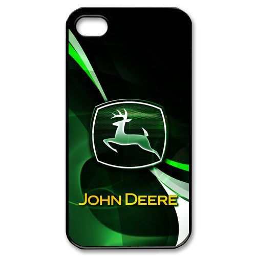 John Deere Tractor Logo Hard Plastic Back Cover Case for iPhone Phone ...
