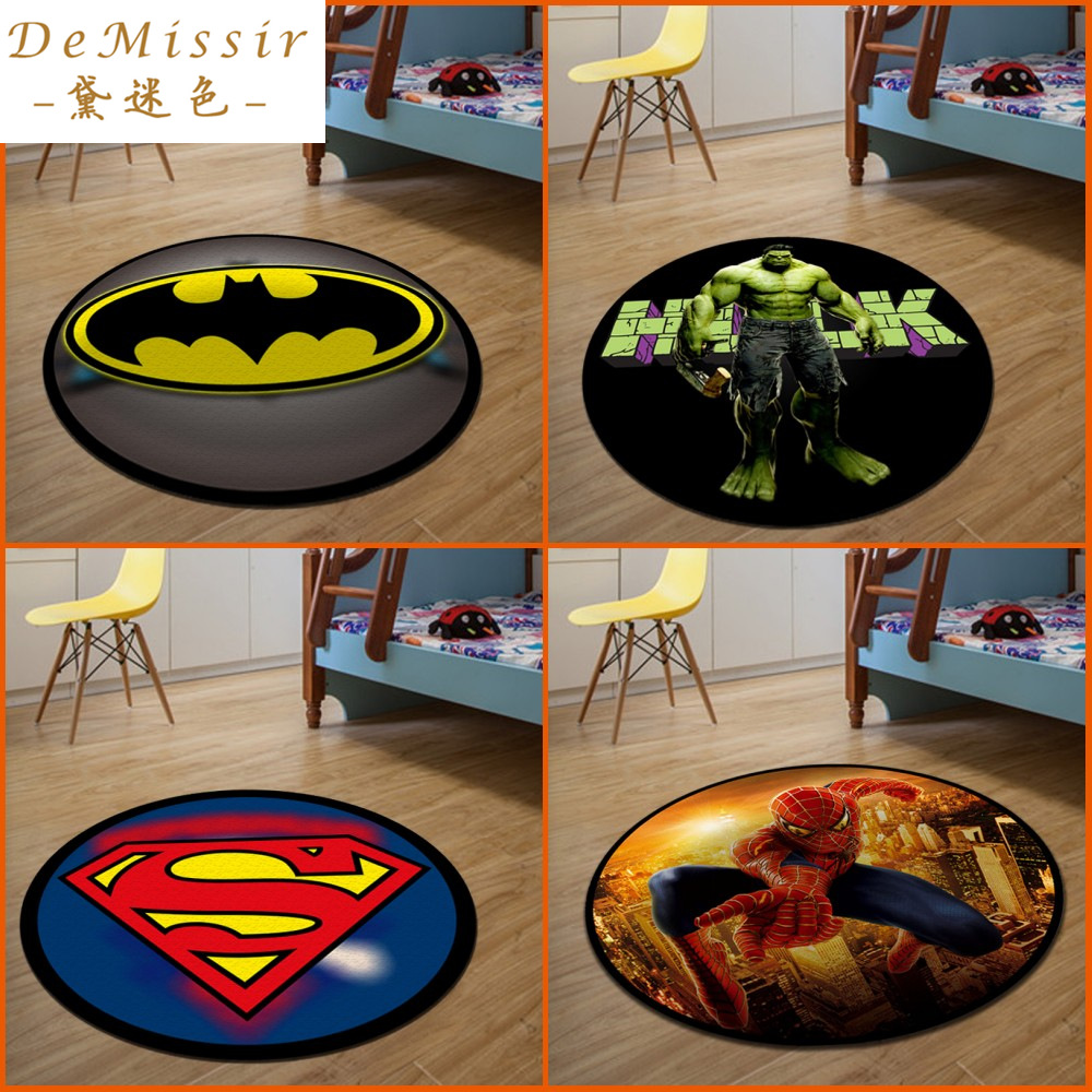 Hot 3D Cartoon Round Small Rug Dywan Dia 60CM alfombras dormitorio Circular Living Room Chair Pad rugs mats tapis chambre(China (Mainland))