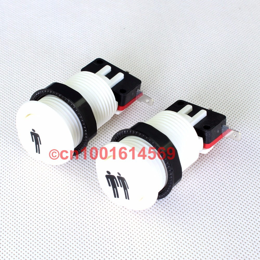 Free Shipping! New Perfect ONE Player & TWO Player Start Push Buttons For Arcade 8-Liner Cherry Master Mame-White -Best Price(China (Mainland))