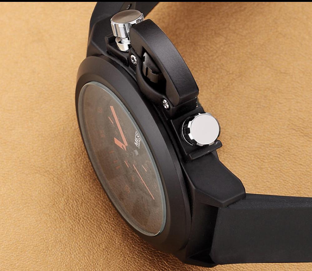 MEGIR Мужчины Хронограф Авто Дата Кварцевые Часы Горячая Продажа Часы Водонепроницаемые Многофункциональный Роскошные Наручные Часы Relógio Masculino