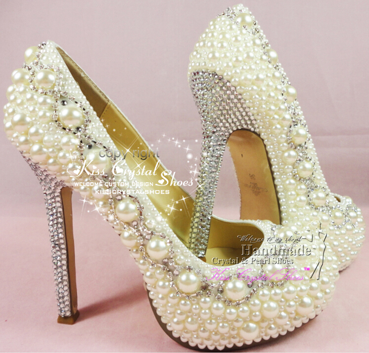 Buy ivory wedding shoes handmade custom for Ivory and silver wedding dress