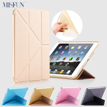 Case For Ipad Pro 9.7 inch 5 Shapes Fold Stand TPU Soft Smart Case Glitter Silicone Cover for Ipad 2 3 4 7 Auto Sleep/Wake up(China (Mainland))