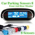 Car Parking Sensor 8 Sensors Reverse Backup Radar Electromagnetic Parking Assist System For Front Rear LED